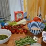 Pâtes maison et tomates farcies Les ingrédients