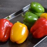 Poivrons à l'huile d'olive Rincer les poivrons