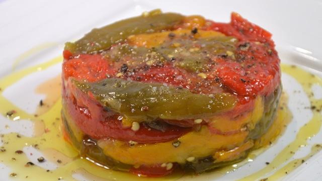 Poivrons à l'huile d'olive