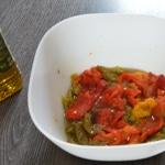 Poivrons à l'huile d'olive Laisser macérer une nuit