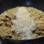 Risotto au saumon et champignonsAjouter le parmesan à la fin de cuisson