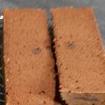 Bûche chocolat au caramel croustillant Génoise cuite