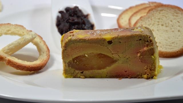 Foie gras aux poires caramélsiées