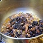 Magret Canard aux champignons PréparerSaisir les champignons