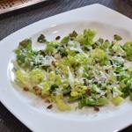 Salade de gésiers et oignon rouge Disposer la salade