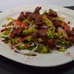 Salade de gésiers et oignon rouge
