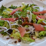 Salade de gésiers et oignon rougeAjouter l'oignon rouge