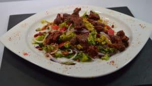 Recette de Salade de gésiers et oignon rouge