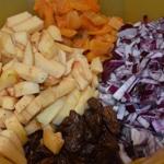 Chutney coings et abricots Les ingrédients