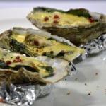 Huîtres chaudes aux épinards