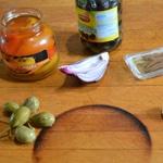 Tapenade aux poivrons et olives noirs Les ingrédients