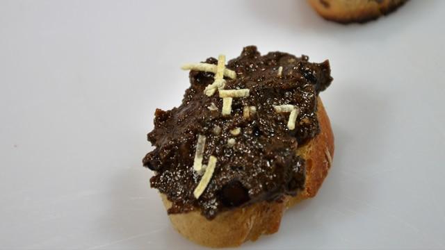 Tapenade Olives noir et figues Les ingrédients
