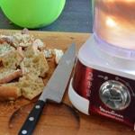 Boudin blanc aux cèpes Couper le pain