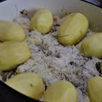 Choucroute à la graisse de canard Poser choucroute et pomme de terre
