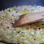 Risotto aux moules et crème d'ail Cuire le riz