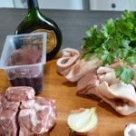 Terrine de porc à l'Armagnac Les ingrédients
