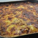 Lasagnes jambon et poulet Lasagnes cuites