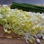 Sauce Mascarpone et Gorgonzolas Émincer les poireaux