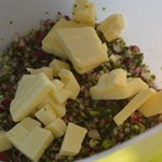 Beurre de radis Ajouter le beurre