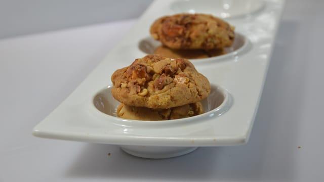 Cookies aux macadamia caramélisées
