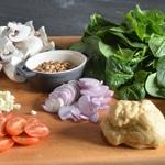 Tagliatelles au jambon cru Les ingrédients