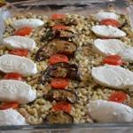 Gratin de pâtes et aubergines Trancher la mozzarella
