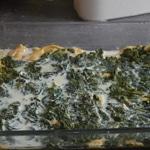 Lasagnes de cabillaud Une couche épinard