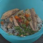Salade de maquereau Mélanger avec le riz
