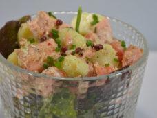 Salade de saumon aux pommes de terre