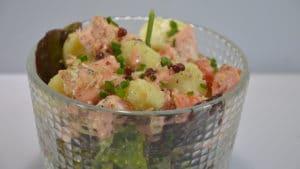 Recette de Salade de saumon aux pommes de terre