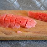 Salade de coquillettes Trancher la pastèque