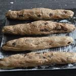 Pain Viennois au chocolat Etendre en forme de baguette