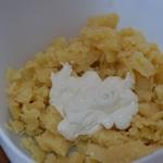 Pommes de terre farcie au chorizo Ajouter la crème