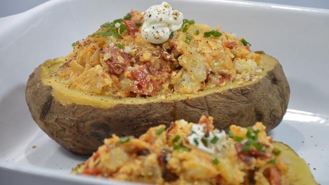 Pommes de terre farcie au chorizo