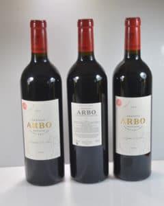 Château Arbo Les bouteilles