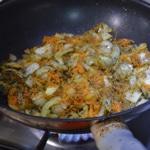Lasagnes à la dinde Saisir les légumes