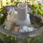 Sardines en verrine Mixer en ajoutant un peu d'huile