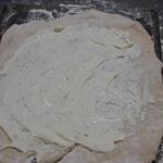 Fougasse aux 4 fromages Etaler la pâte