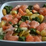 Gratin de saumon et épinards Ajouter le saumon
