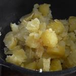 Parmentier de cabillaud Ecraser les pommes de terre