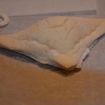 Feuilleté au saumon revisité Coller la pâte