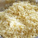 Gratin de coquillettes Râper le fromage