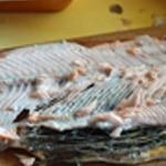 Lasagnes au saumon épinards Effeuiller le saumon