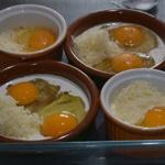 œuf cocotte au chou fleur Casser les oeufs