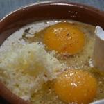 œuf cocotte au chou fleur Ajouter le fromage rappé