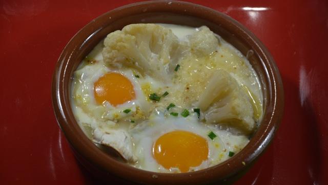 œuf Cocotte Au Chou Fleur