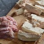 Pâté en croute au foie gras Trancher le foie gras