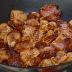 Risotto au poulet et olives vertes Saisir la viande