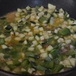 Risotto au poulet et olives vertes Ajouter les légumes