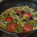 Risotto au poulet et olives vertes Ajouter les olives